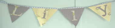 Girls' name bunting