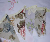 Vintage bunting swags