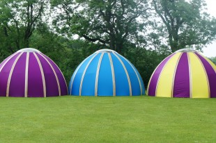 Amazing Unidome tents in camping village