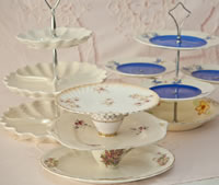 Vintage China Three Tier Cake Stand