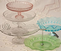 Pressed Glass Cake Stands