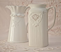White Pitcher Jugs
