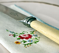 Vintage Hamper Knife and Napkin