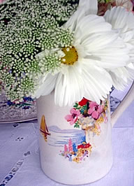 White Flower in Vintage Jug