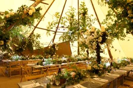 secret garden 21st birthday party in a tipi
