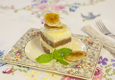Cake Served on Chintz Plate
