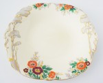 vintage crockery plate with raised floral detail