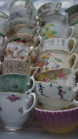eclectic mis match vintage china teacups