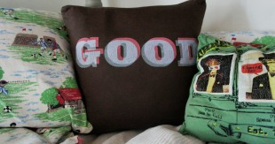 upcycled t-shirt cushions
