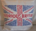 upcycled GLORIOUS BRITAIN cushion