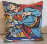 upcycled SUPERMAN cushion