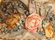 rosette corsage trim detail