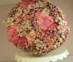 vintage floral pomander