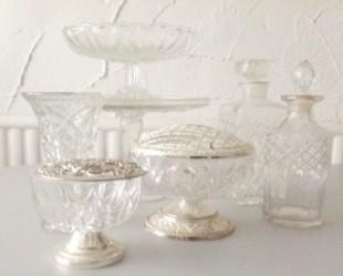 vintage glasswear by Elsie Florence