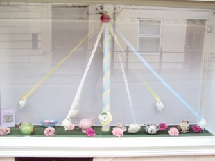 Elsie Florence vintage china  Maypole window
