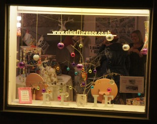 Elsie Florence pop - up  shop Christmas window